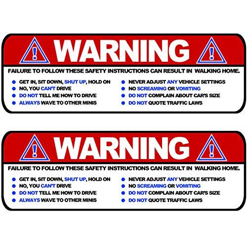 large-warning-funny-safety-rules-visor-sticker-set-for-mini-cooper