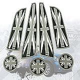 BMW MINI ドア ポケット カバー ドリンク ホルダー コースター 7点セット ユニオンジャック (ブラック)