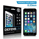 iPhone 6 Plus Screen Protector Tempered Glass - DEFENSLIM Front Cover Accessory for Your Apple iPhone 6 [5.5 inch] - HD Clarity - Touchscreen Sensitivity - 9H for Scratch & Shock Resistance - Best Insurance for Your Investment - Lifetime Warranty! - Refer-A-Friend Bonus