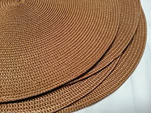 Round Woven Placemats Brown - Set of 4