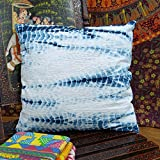 Indigo Pillow, Tie Dye Cushions, Indigo Tie Dye Cushion Cover, Hand Dyed Pillow Cover 16x16 (Pack Of 2)