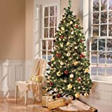 7 Ft Wall Christmas Tree with Stand-Clear Lights - Improvements