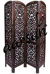 Aarsun Handcrafted Wooden Folding Partition Screen / Room Divider