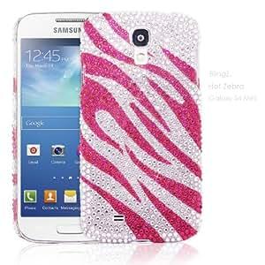TheBlingZ zèbre rose Bling Bling Diamante Strass Cristal Case Coque etui housse pour Samsung Galaxy S4 Mini