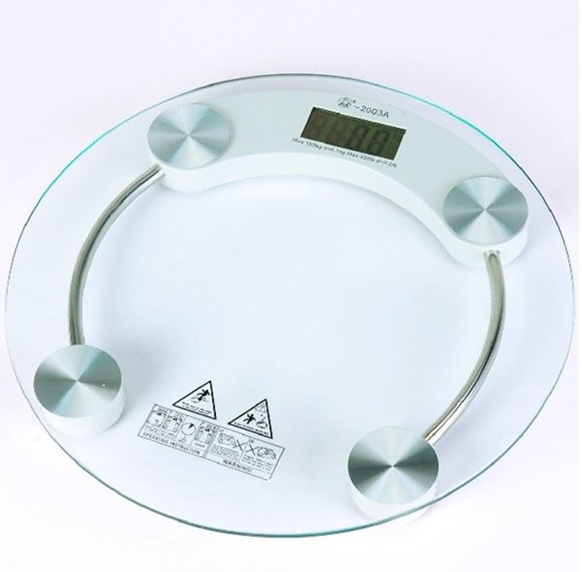 Bathroom Scales Personal Digital Round Glass Scale Capacity 180kg Was Sold