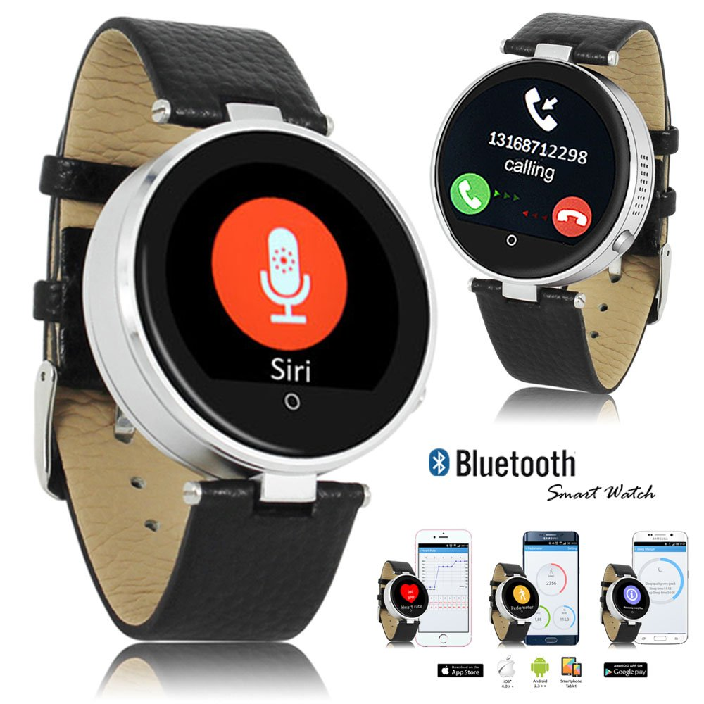 Indigi® Fitness Bluetooth Smart Watch Phone SIRI Built-in Heart Rate Monitor Pedometer