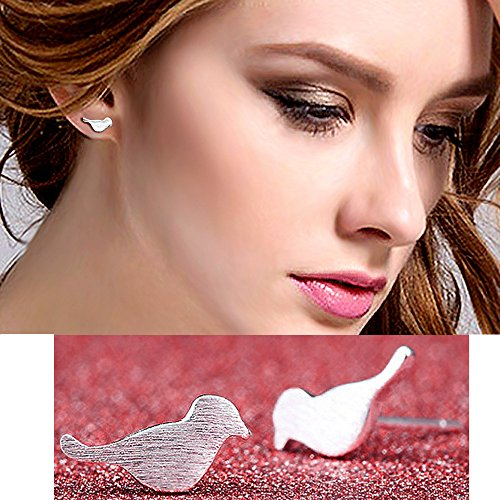 bodya-pair-polished-silver-plated-cute-sweet-bird-design-ear-post-bar-stud-earrings-simplify-stick-e