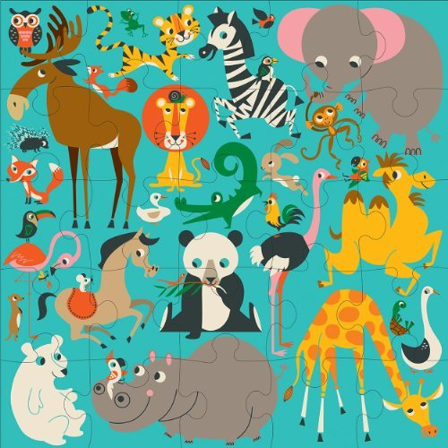Animals Of The World Jumbo Puzzle Toy, Kids, Play, Children front-752439