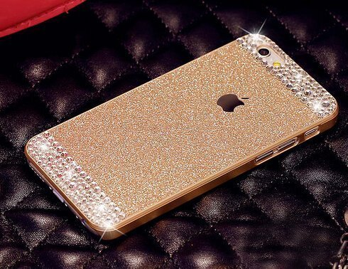 iPhone 6 Case ,LA GO GO(TM) Beauty Luxury Diamond Hybrid Glitter Bling hard Shiny Sparkling with Crystal Rhinestone Cover Case for Apple iPhone 6 (4.7) – Retail Packaging (Gold, iPhone 6)