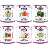 High Quality Food Vegetables Emergency Food Storage Kit, 6 count (Potato Dices, Cross-Cut Celery, Broccoli Florets and Stems, Chopped Onions, Diced Red & Green Bell Peppers and Diced Carrots)