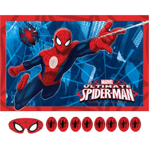 Spider-Man Party Game, Pin The Emblem to The Spidey Suit, Multicolored - 1