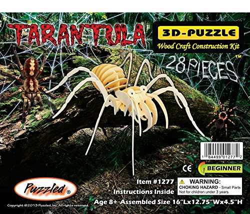 Puzzled Tarantula Wooden 3D Puzzle Construction Kit