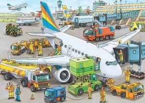 Ravensburger 08603 - Geschäftiger Flughafen - Kinderpuzzle 35 Teile