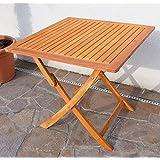 Klapptisch Holztisch Gartentisch Garten Tisch 80x80cm geölt Holz Eukalyptus wie Teak von AS-S