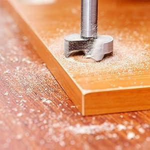 DEQIUE Precision Shear Serrated Edge Forstner Drill Bit,15mm/20mm/25mm Diameter for Woodworking Plastic Plywood (Tamaño: 15-25mm)