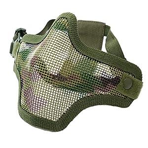 Cobra Airsoft V1 Strike Mesh Mask Atp Camouflage Double Strap