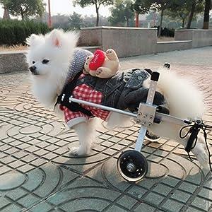 LXJYMX Pet Prosthesis Dog Wheelchair Rear Limb Disability ?? pet Scooter hind Leg Assist (Color : A, Size : L) (Color: A, Tamaño: L)