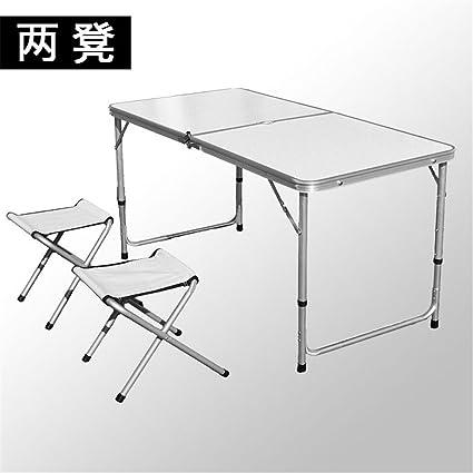 MONEYY 1,2 m de aleación de aluminio de aluminio tabla divididas mesas plegables picnic portátiles 120*60*75cm mesas plegables
