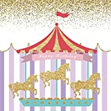 Yeele 6x6ft Baby Birthday Backdrop circus Carousel striped style Birthday party Decoration photography background vinyl Newborn boy Kid child baby Portrait Photo booth shooting Studio Props