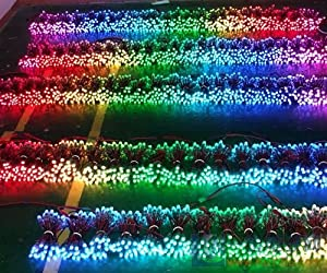 Odlamp DC12V 500pcs WS2811 Dream Color Changing RGB Addressable LED Pixel String Light Waterproof 12mm for Christmas Party Advertising Board Decoration (DC12V 500pcs) (Color: Multi Color, Tamaño: DC12V 500pcs)