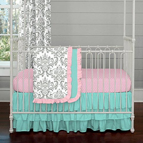 Pink And Teal Baby Bedding 1516 front