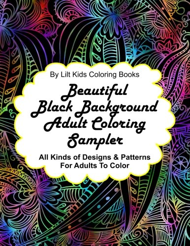 beautiful-black-background-adult-coloring-sampler-all-kinds-of-designs-patterns-for-adults-to-color-