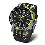 Vostok-Europe Energia 2 NH35A/575H283 Black Strap Yellow Watch Pilot Automatic 49mm