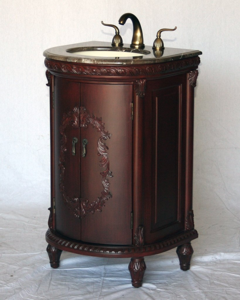 22 Inch Antique Style Single Sink Bathroom Vanity Model