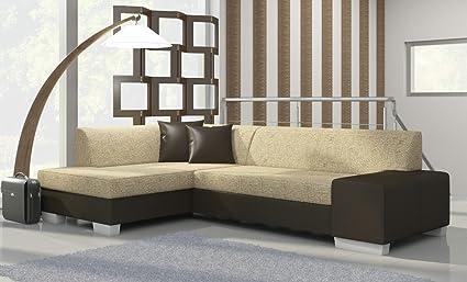 Ecksofa Fabian mit Bettfunktion Eckcouch Sofa Couch Schlafsofa 01527