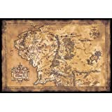"""Lord of the Rings Poster MAp of Middle earth (dark) (36""""x24"""")"""