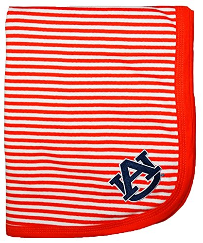 "Auburn Tigers NCAA College Newborn Infant Baby Blanket 33"" x 36"" - 1"