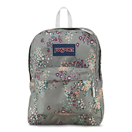 JanSport Backpack Multi Tone SUPERBREAK, SUPER FX, California Bear Various Style! Bag_Style: SHADY GREY SPRINKLED FLORAL