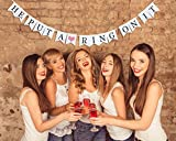 "Haute Soiree ""He Put A Ring On It"" Hanging Sign - Perfect Decoration for Bachelorette Parties, Engagement Parties, Rehearsal Dinners and Bridal Showers"