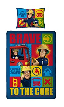 Parure de lit housse de couette 140 x 200 cm sam le - Housse de couette sam le pompier ...