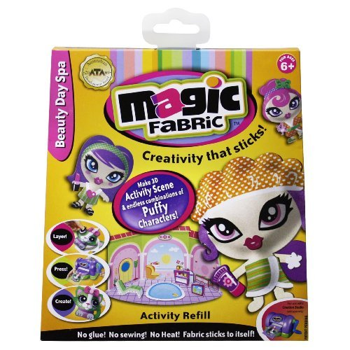The Only Fabric That Magically Sticks To Itself. - Magic Fabric Activity Refill - Spa
