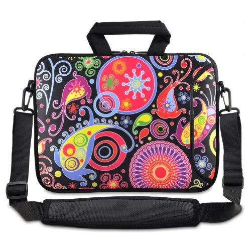 "Colorful Paisley 9.7"" 10"" 10.2"" inch Laptop Netbook Tablet Shoulder Case Carrying Sleeve bag For Apple iPad/Asus EeePC/Acer Aspire one/Dell inspiron mini/Samsung N145/Lenovo S205 S10/HP Touchpad Mini 210"