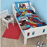 Disney Spiderman Ultimate Thwip Junior 4 in 1 Junior Bed Set (Duvet, Pillow, Covers)