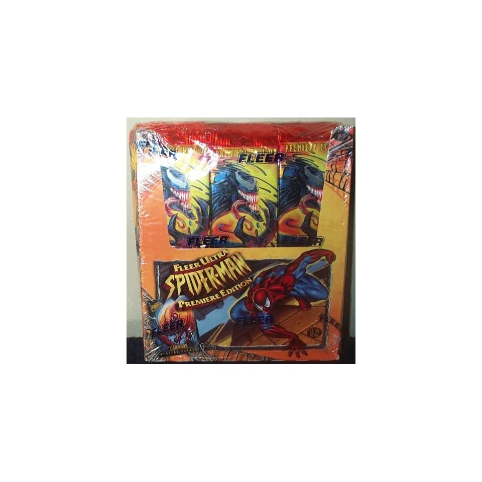 Fleer Ultra Spider Man Premiere Edition Trading Cards Box  24 Count