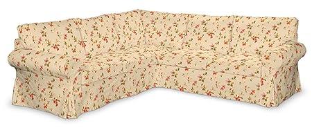 Dekoria Fire Retardant IKEA EKTORP Housse pour canapé d'angle–Rouge Taille L
