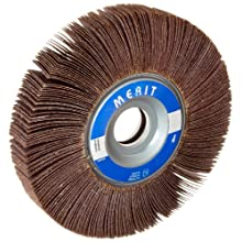 Merit Type K Sof-Tutch Grind-O-Flex Abrasive Flap Wheel, 1&#034; Arbor, Ceramic Aluminum Oxide