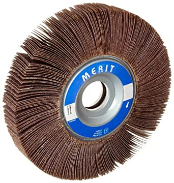 "Merit Type K Sof-Tutch Grind-O-Flex Abrasive Flap Wheel, 1"" Arbor, Ceramic Aluminum Oxide"