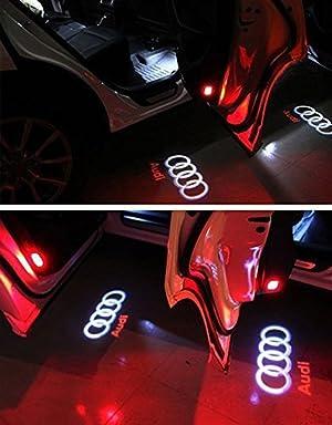 WFB Audi A1 A3 A4 A5 A6 A7 A8 Q3 Q5 Q7 R8 RS4 RS5 RS6 RS7 S3 S4 S5 S6 S7 S8 SQ5 TT TTS Car Door Projector Welcome Courtesy Shadow Logo Light 2Pcs
