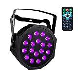UV Black Lights with Remote 18x3W LED Par Lighting for Stage KTV Pub Club Dsico Show Party (1pc) (Color: 18 LED 1pc)