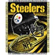 "Pittsburgh Steelers NFL Triple Woven Jacquard Throw (Spiral Series) (48x60"")"""