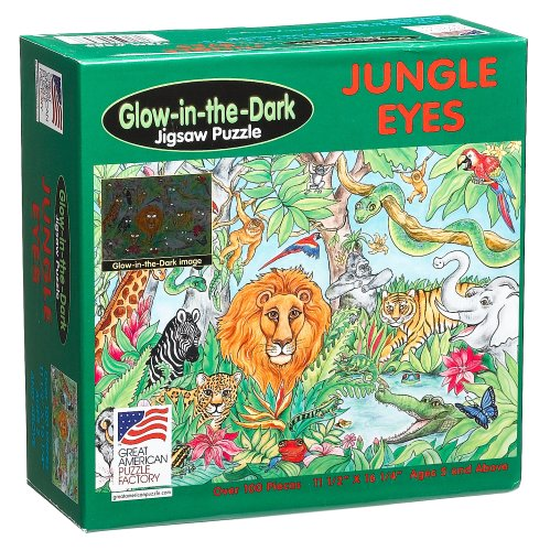 Cheap Great American Jungle Eyes Jigsaw Puzzle 100pc (B000A32NVG)