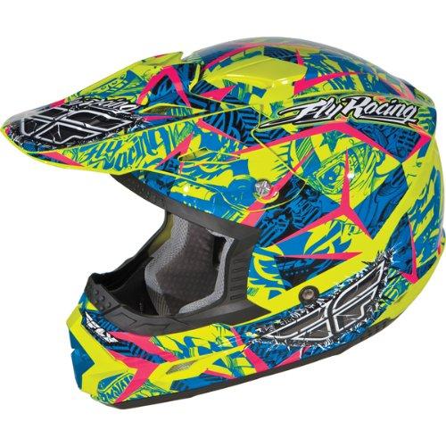 Fly Racing Trophy II Adult Dirt Bike Motorcycle Helmet - Retro / Large