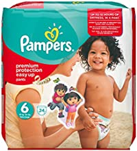 Pampers Windeln Easy up Gr.6 Extra Large 16+ kg Sparpack, 4er Pack (4 x 24 Stück)