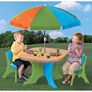 The Step2 Company Play and Shade Patio Set from The Step2 Company, LLC