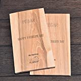 Handcrafted Organic Extra Large Northern Birch/Texas Mesquite/African Pearwood/Smoky Hickory/ Sugar Maple/ Sweet Pecan/ Crisp Cherry/Red Cedar Barbecue Grilling Planks Grill Plank (2 Pack)