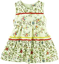 Floral Printed Sleeveless Casual Dress - Multi Coloured (12-18 Months)